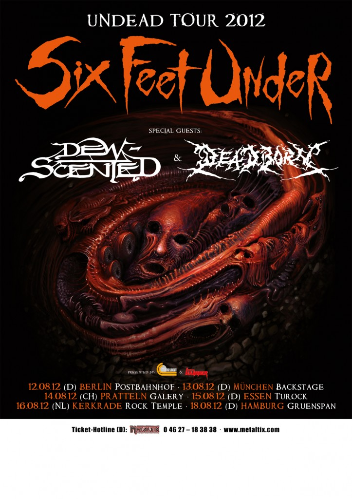 Six Feet Under Tour 2012 w/ Dew-Scented