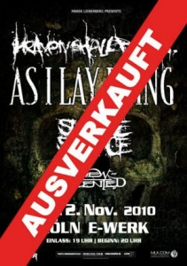 Heaven Shall Burn show Cologne SOLD OUT