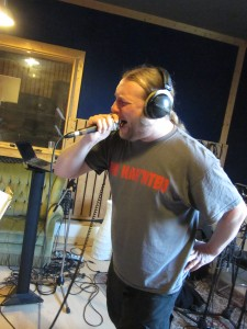 Leif recording his vocals at Soundlodge Studio…